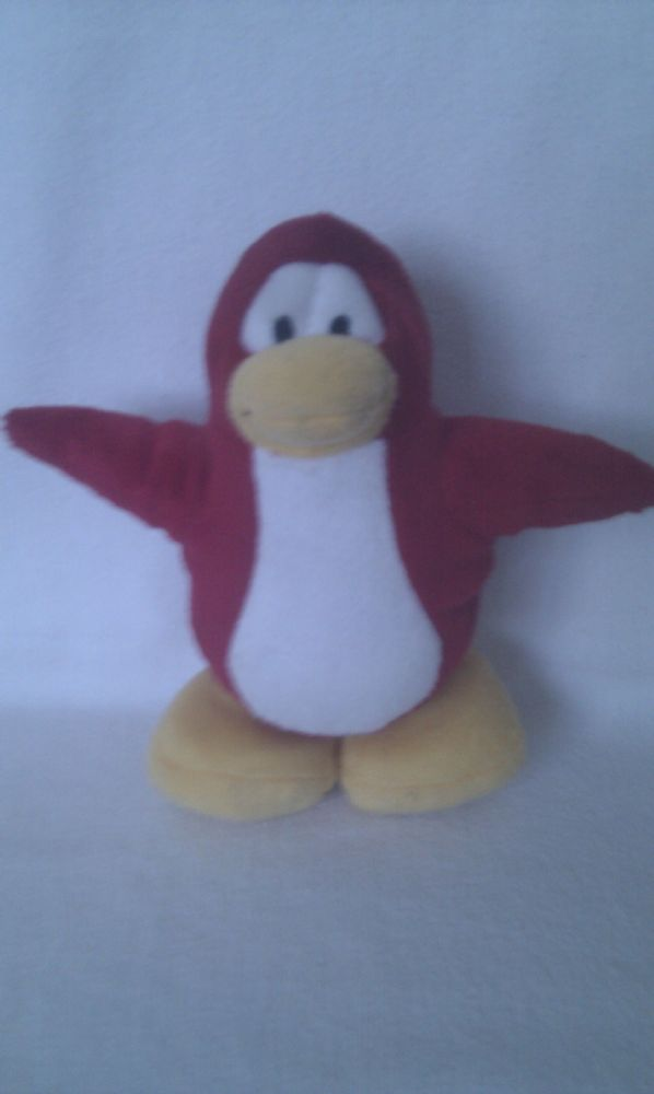 Adorable Disney Club Penguin Red So Cute Penguin Plush Toy